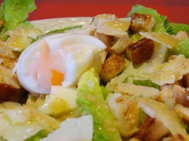 Recettes de salade c sar et poulet 2 - Recette salade cesar au poulet grille ...