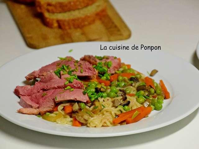 Recettes de nouilles et canard - Cuisiner un filet de canard ...