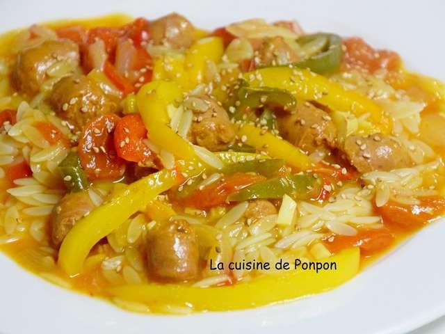 Recettes de merguez et poivrons - Blog cuisine rapide et facile ...