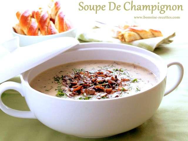 recettes de soupe aux champignons 2. Black Bedroom Furniture Sets. Home Design Ideas