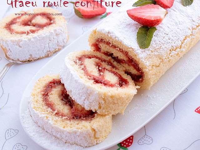 Les meilleures recettes de g teau roul et fraises for Art de cuisine de sihem