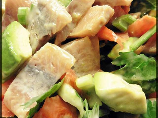 Recettes de salade de hareng for Salade poisson