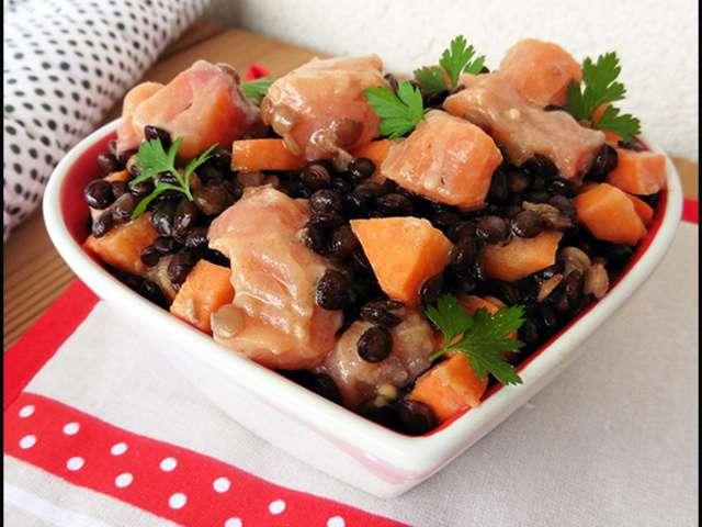 Recettes de salade de lentilles au saumon fum - Cuisine belge recettes du terroir ...
