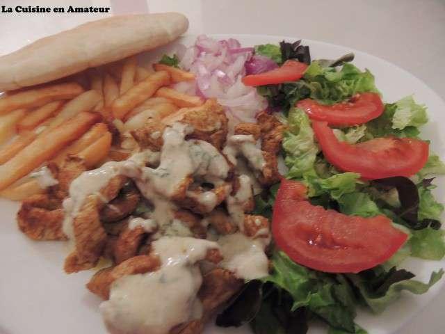 Recettes de viande kebab - Assiette de cuisine ...