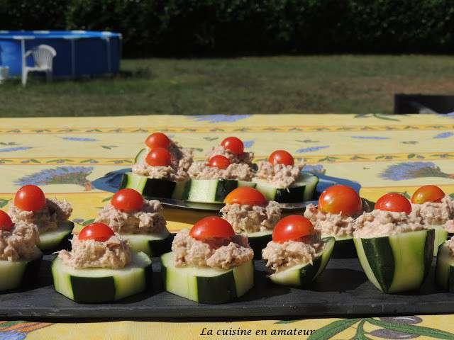 Recettes de canape de concombre au thon for La halle au canape