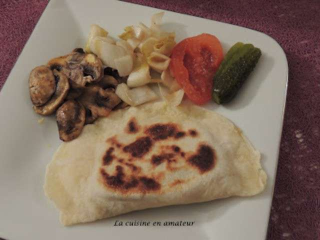 recettes de naan aux champignons et curcuma. Black Bedroom Furniture Sets. Home Design Ideas