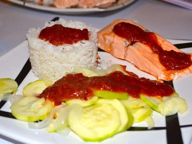 Les meilleures recettes de plats et saumon - Cuisine tv recettes minutes chrono ...
