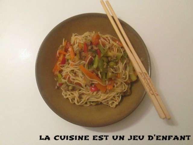 Recettes de nouilles chinoises et viande for La cuisine est un jeu d enfant