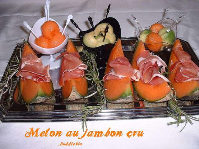 Les meilleures recettes de melon et jambon cru - Melon jambon cru presentation ...