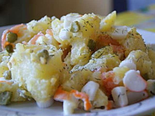 Les meilleures recettes de surimi et saumon - Salade pomme de terre saumon fume ...