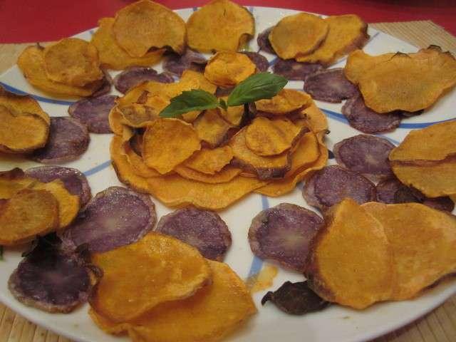 Recettes de chips maison 3 for Chips de patate douce au micro onde