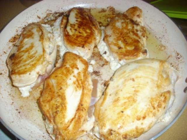 Recette de nourriture de poitrine de poulet farcie