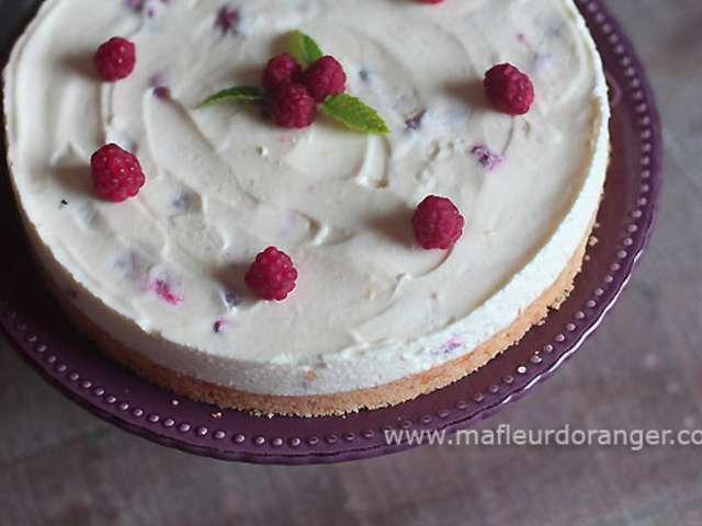 Recettes de cheesecake de la fleur d 39 oranger - Cheesecake framboise sans cuisson ...