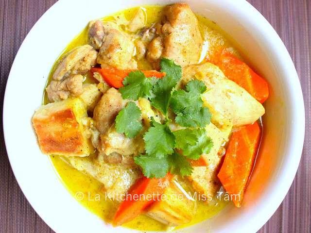 recettes de curry de poulet de la kitchenette de miss t m. Black Bedroom Furniture Sets. Home Design Ideas