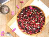 Tarte amandine aux fruits rouges (vegan)