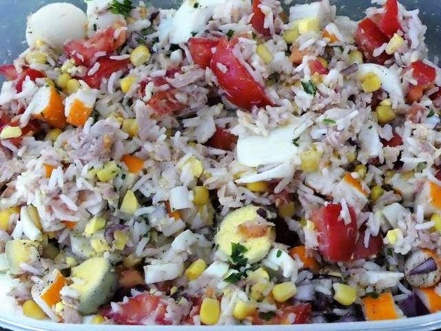 recettes de salade de riz au thon. Black Bedroom Furniture Sets. Home Design Ideas