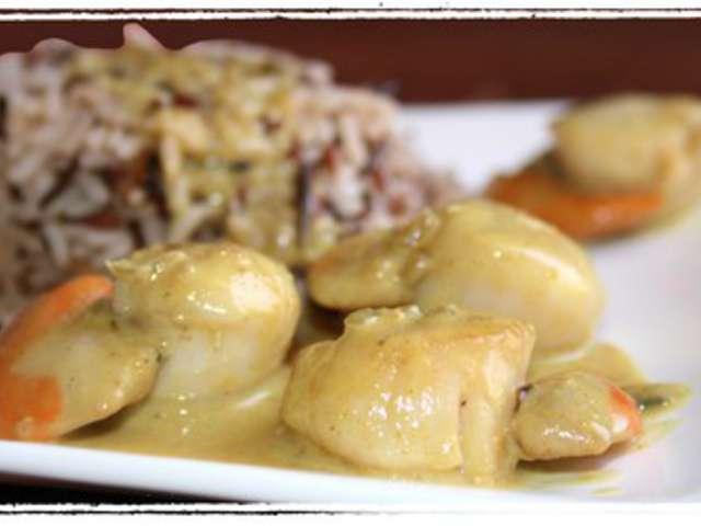 Les meilleures recettes de noix de saint jacques et curry - Noix de saint jacques curry ...