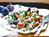 Honeyed Fig, Watercress & Fennel Salad w/ Goats Cheese