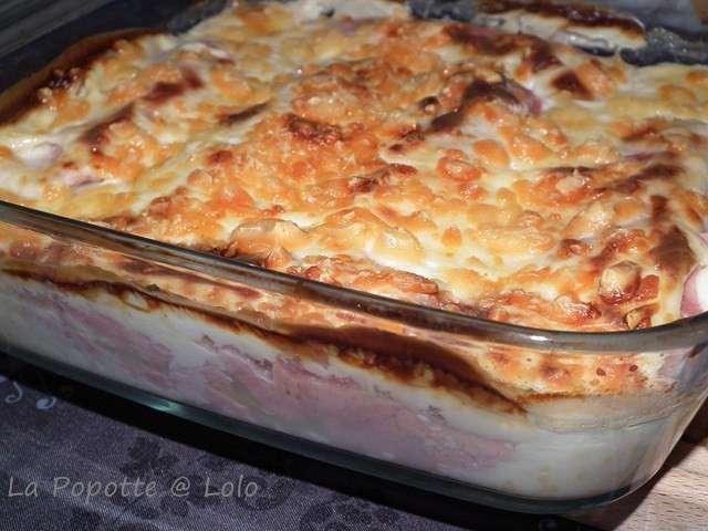 Recettes de gratin d 39 endives et endives au jambon - Recette endives au jambon ...