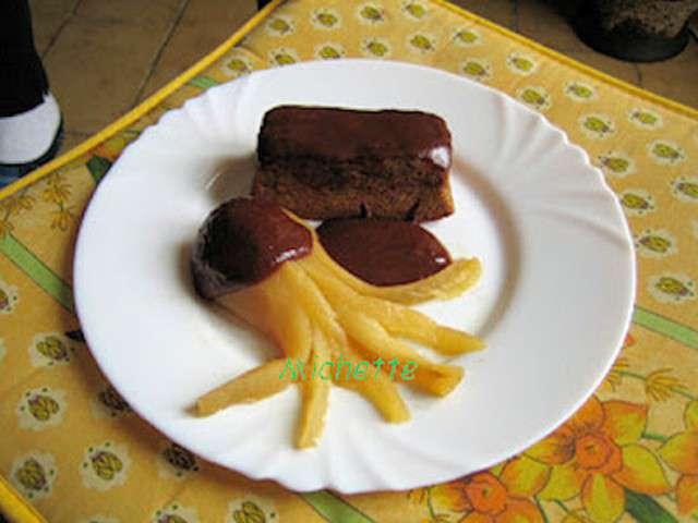 Recettes d 39 abricot et chocolat 14 - Fondant au chocolat la table a dessert ...