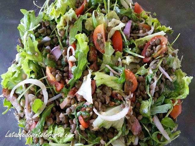 Recettes de salade de lentilles 3 for Eliminer les vers des salades