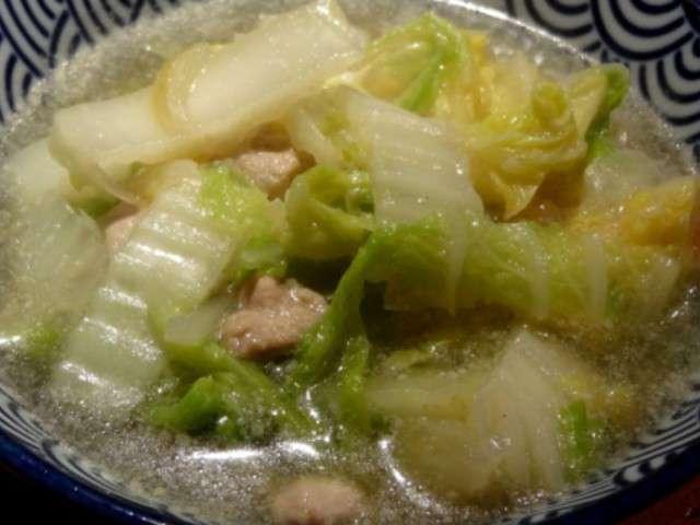 Recettes de chou chinois et soupe au chou - Cuisiner du chou chinois ...