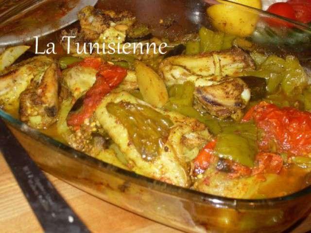 Recettes d 39 pice de la tunisienne - Cuisiner un poulet roti ...