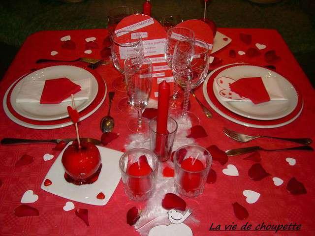 Les meilleures recettes de saint valentin de la vie de - Decoration table st valentin ...