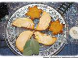 Toasts foie gras et mousse de canard a l'orange