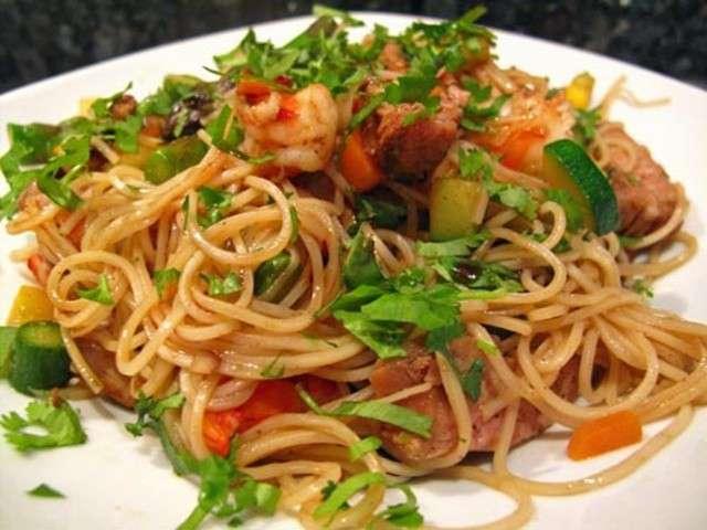 les meilleures recettes de nouilles chinoises et crevettes. Black Bedroom Furniture Sets. Home Design Ideas
