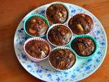 Muffins chocolat pomme rhubarbe light