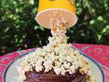 Gravity cake ou gâteau suspendu aux pop corn