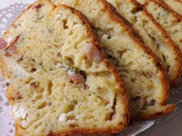 Cake Courgette Champignon Lardon