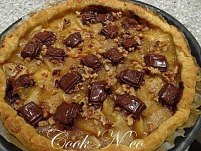 Recettes de tarte aux pommes et chocolat 2 - Recette tarte aux chocolat ...