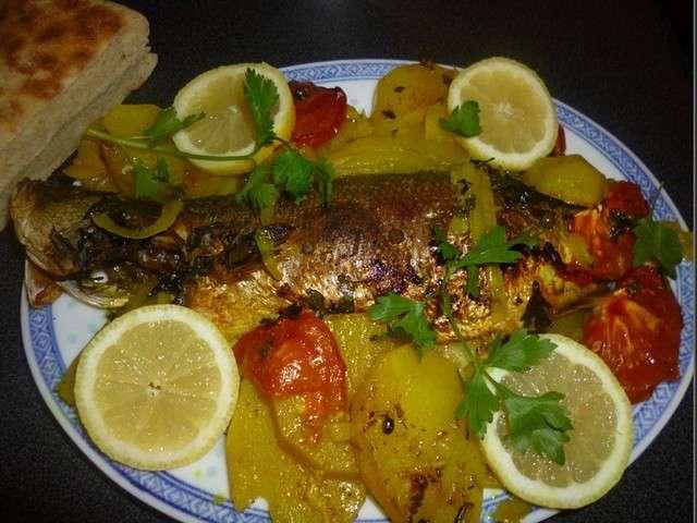 Les meilleures recettes de bar - Recette poisson grille au four ...