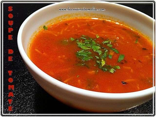 Soupe tomate vermicelle maison avie home - Soupe de tomate maison ...