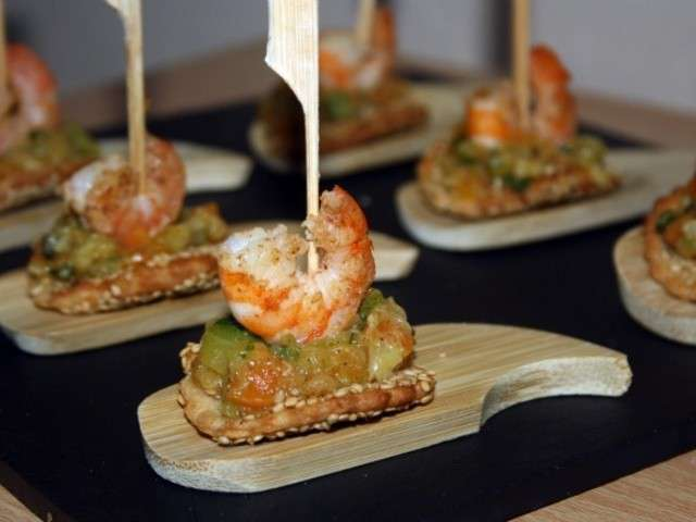 Les meilleures recettes d 39 entr es et crevettes for Entree gastronomique originale