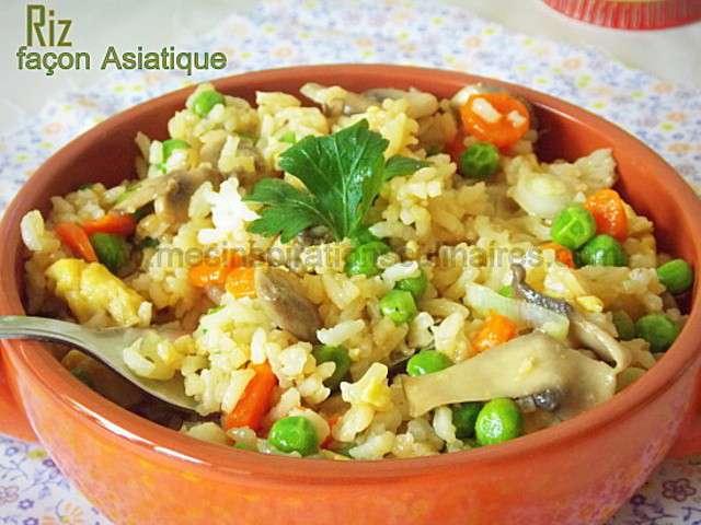 Riz facon asiatique facile recette - Blog cuisine vegetarienne ...