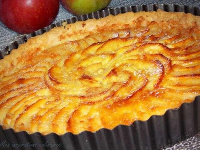 Les meilleures recettes de tarte aux pommes et cr mes - Dessin de tarte aux pommes ...