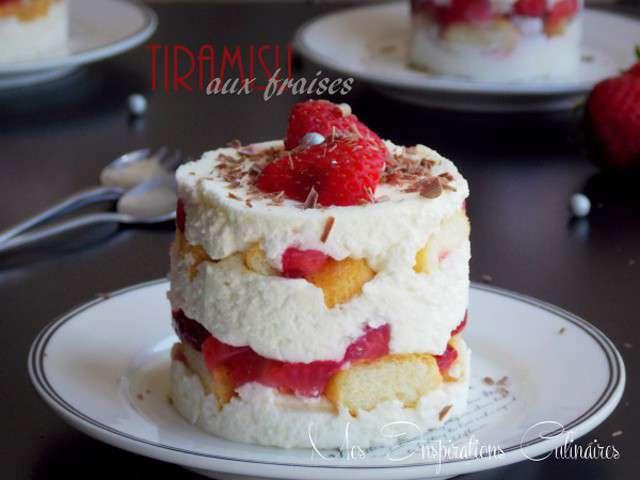 Recettes de tiramisu aux fraises et cuisine sans oeuf - Cuisine de bernard tiramisu ...