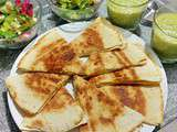 Quesadillas express dinde fromage curry