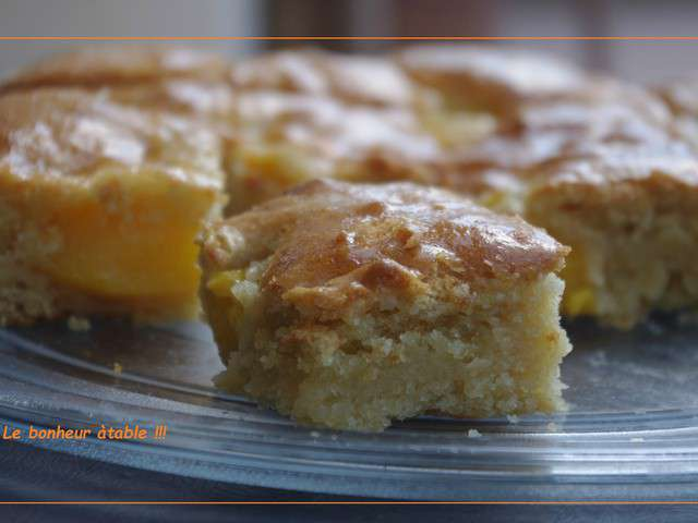 Recettes de g teau aux p ches - Gateau sans oeuf et sans beurre ...