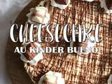 Cheesecake au Kinder Bueno sans cuisson