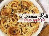 Cinnamon roll façon apple pie