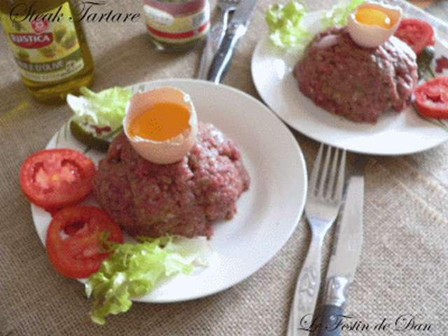 recettes de steak tartare de le festin de dan. Black Bedroom Furniture Sets. Home Design Ideas