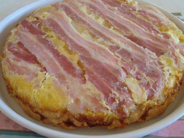 tarte aux pommes de terre jambon et chevre frais
