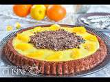 Tarte genoise chocolat orange par amour de cuisine
