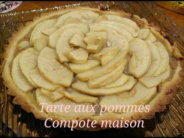 Recettes de pomme de le plaisir gourmand - Tarte aux pommes compote maison ...