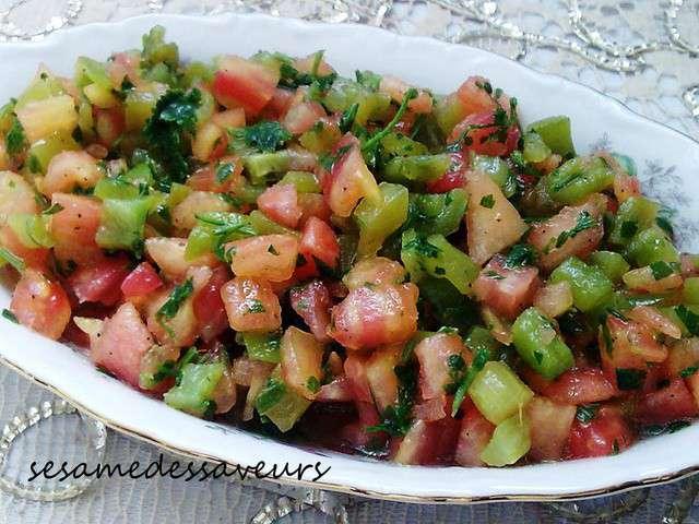 Recettes de salade marocaine for Eliminer les vers des salades