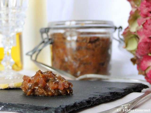 Recettes de viande et foie gras for Chutney de pommes pour foie gras